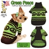 Mirage Pet Products Green Peace Pet Sweater Size MD