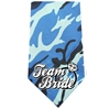 Mirage Pet Products Team Bride Screen Print Bandana Blue Camo