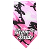 Mirage Pet Products Team Bride Screen Print Bandana Pink Camo