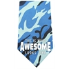 Mirage Pet Products This is what Awesome Looks Like Screen Print Bandana Blue Camo