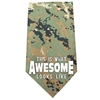 Mirage Pet Products This is what Awesome Looks Like Screen Print Bandana Digital Camo