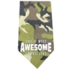 Mirage Pet Products This is what Awesome Looks Like Screen Print Bandana Green Camo