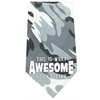 Mirage Pet Products This is what Awesome Looks Like Screen Print Bandana Grey Camo