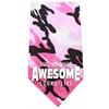 Mirage Pet Products This is what Awesome Looks Like Screen Print Bandana Pink Camo