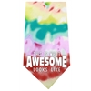 Mirage Pet Products This is what Awesome Looks Like Screen Print Bandana Tie Dye