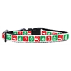 Mirage Pet Products Timeless Christmas Nylon Ribbon Collar Small