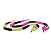 Mirage Pet Products Neon Snakes Pet Toy Set
