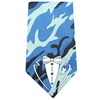 Mirage Pet Products Tuxedo Screen Print Bandana Blue Camo