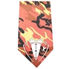 Mirage Pet Products Tuxedo Screen Print Bandana Orange Camo