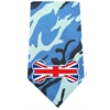 Mirage Pet Products UK Bone Flag Screen Print Bandana Blue Camo