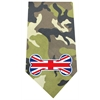 Mirage Pet Products UK Bone Flag Screen Print Bandana Green Camo