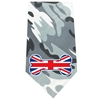 Mirage Pet Products UK Bone Flag Screen Print Bandana Grey Camo