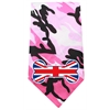Mirage Pet Products UK Bone Flag Screen Print Bandana Pink Camo