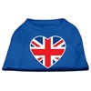 Mirage Pet Products British Flag Heart Screen Print Shirt Blue XL (16)