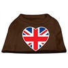 Mirage Pet Products British Flag Heart Screen Print Shirt Brown XS (8)