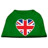 Mirage Pet Products British Flag Heart Screen Print Shirt Green XXL (18)