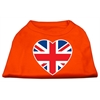 Mirage Pet Products British Flag Heart Screen Print Shirt Orange XXL (18)