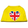 Mirage Pet Products British Flag Heart Screen Print Shirt Yellow XXL (18)