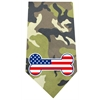 Mirage Pet Products America Bone Flag Screen Print Bandana Green Camo