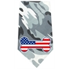 Mirage Pet Products America Bone Flag Screen Print Bandana Grey Camo