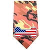 Mirage Pet Products America Bone Flag Screen Print Bandana Orange Camo
