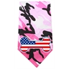 Mirage Pet Products America Bone Flag Screen Print Bandana Pink Camo