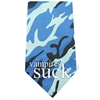 Mirage Pet Products Vampires Suck Screen Print Bandana Blue Camo