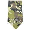 Mirage Pet Products Vampires Suck Screen Print Bandana Green Camo