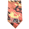 Mirage Pet Products Vampires Suck Screen Print Bandana Orange Camo