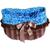 Mirage Pet Products Blue Western Reversible Snuggle Bugs Pet Bed, Bag, and Car Seat All-in-One