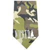 Mirage Pet Products Wicked Screen Print Bandana Green Camo