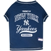Mirage Pet Products New York Yankees Baseball Dog Shirt Large