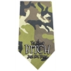 Mirage Pet Products Yes I'm a Bitch Screen Print Bandana Green Camo