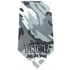 Mirage Pet Products Yes I'm a Bitch Screen Print Bandana Grey Camo