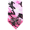Mirage Pet Products Yes I'm a Bitch Screen Print Bandana Pink Camo