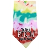 Mirage Pet Products Yes I'm a Bitch Screen Print Bandana Tie Dye