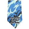 Mirage Pet Products You come sit stay Screen Print Bandana Blue Camo