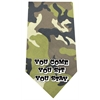 Mirage Pet Products You come sit stay Screen Print Bandana Green Camo