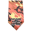 Mirage Pet Products You come sit stay Screen Print Bandana Orange Camo