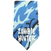 Mirage Pet Products Zombie Hunter Screen Print Bandana Blue Camo