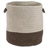 Sunbrella Coastal Mink 15x15x16 Basket