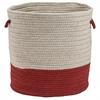 Colonial Mills Sunbrella Coastal Garnet 13x13x11 Basket