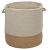 Sunbrella Coastal Wheat 15x15x16 Basket