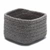 Natural Shelf Square BSKT 11x11x8 Dark Gray