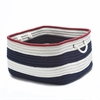Nautical Stripe Navy/Red RECT 18x18x12