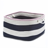Nautical Stripe Navy/Pink RECT 18x18x12