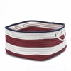 Nautical Stripe Red/Navy RECT 18x18x12