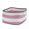 Nautical Stripe Pink/Navy RECT18x18x12