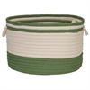 Bar Harbor Moss Green Band BSKT 22x22x14