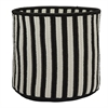 "Baja Stripe Basket - Black 12""x12""x10"" Storage Basket"